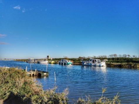 Sur le canal du Rhône à Sète
