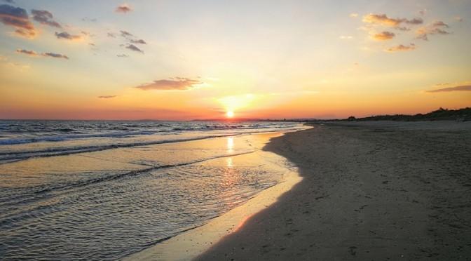 Et un coucher de soleil pour finir la journée en beauté !