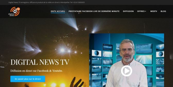 Lancement du site DIGITAL NEWS TV #Montpellier