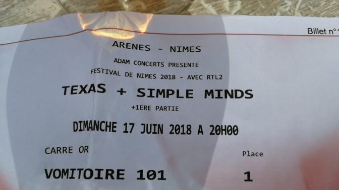 J'ai vu Texas et Simple Minds aux arènes ! yeaaah !